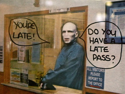 To get away from Voldemort