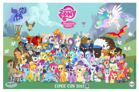Teh ponies. .__. ALL teh ponies. And all teh other Equestrians.
