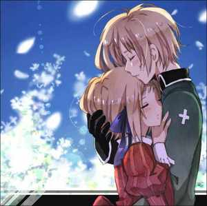 I hope آپ don't mind that, it's 2 characters. I find this picture adorable! It's Liechtenstein and her wonderful big brother, Switzerland <3
