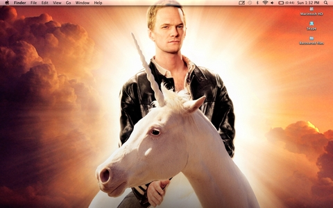 NPH riding a unicorn :)