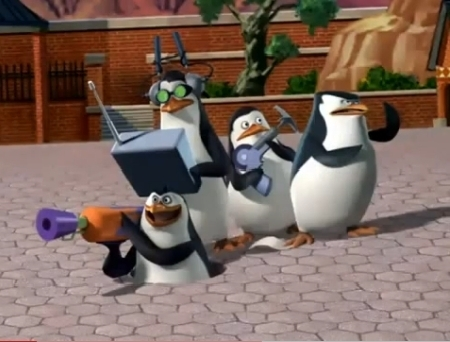"""My all-time yêu thích cartoon hiển thị is """"The Penguins of Madagascar"""" bởi DreamWorks! :D And I dislike """"Adventure time with Finn and Jake"""""""