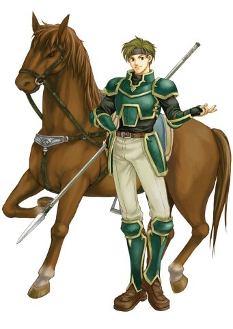 Sain the Cavalier from FE7....because of his personality lmfao xD