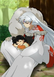 sesshomaru and rin sleeping :)