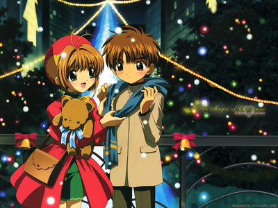 This is the pic of cardcapter sakura.the girl is Sakura and the boy is Syaoran. Aren't they the cutest. I love them a lot.I wish I was Sakura!!!!!!!!!!!!