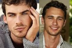 Hmmmm, good question. I will have to go the route a few of あなた have already taken and name two. Ian Somerhalder & James Franco