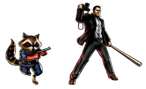 Frank West and Rocket Raccoon were finally revealed for Ultimate Marvel Vs. Capcom 3. I guess my ハロウィン was a 10/10.