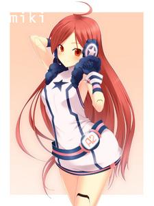 SF-A2 Miki has red hair! ^^