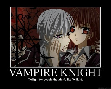 I like Vampire knight and Karin chibi vampire