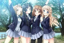 this Anime girls looks like me and sofi and stela and geogria best Friends