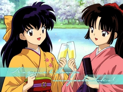 me and my friends: I'm Kagome and my friend miranda is Sango :D