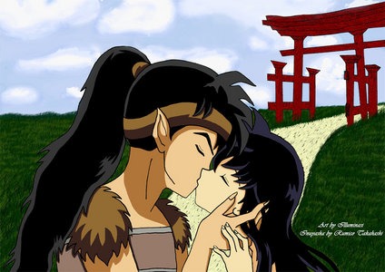 Koga and Kagome's kiss!!!!!!!!!!!!!!!!!!!!!!!!! XD