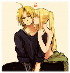 Winry and Ed lol