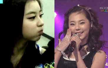 This may not be the best pic but Sohyun reminds me of Sohee when she debuted with 4minute. Some ppl (on the internet) were saying that they both are secret siblings! xD