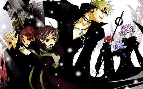 Mine is the main characters from 07-Ghost( Mihkail/Teito, Frau/Zehel, Castor, labrador)