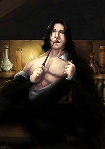 Severus Snape full stop. He's dark yet there's something about him tthat makes me think so interesting. He's handsome and very intelligent.