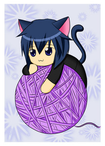 Oh, I Cinta cats! Especially the one named Ikuto, with the guardian chara named Yoru..........