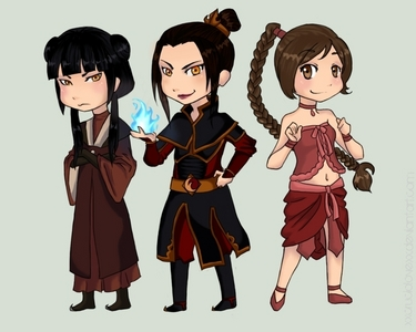 The fuego Nation Girls- Azula, Mai, and Ty Lee :) From ATLA