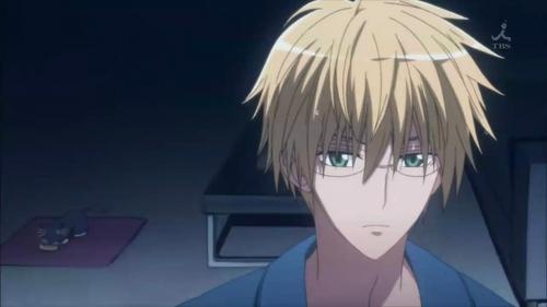 Takumi wearing glasse :]