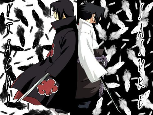 hmm...???? itachi is cooler but sasuke is cuter hmmmmmmm?? i think both of them are very good hahhaha