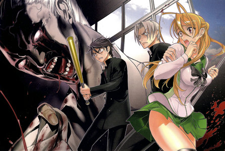either soul eater یا highschool of the dead.