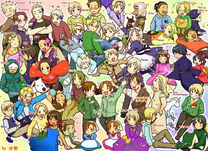 So many countries... sooo maaanyyyyy... It's a Hetalia party~ And I seriously wanna be there o.o