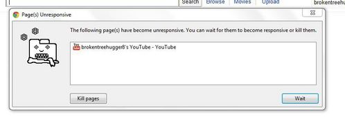 .... Chrome wanting to me to kill Youtube.. Awkward.