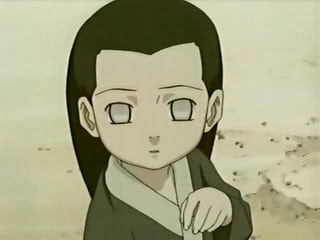 hyuuga neji hahhaha he look innocent kawaii!!