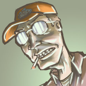 Nope my dad does and he looks like this only he has faceil hair and i am a redneck trust me bro