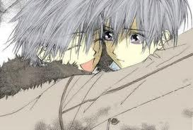 ichiru and zero kiryuu from vampire knight. they are twins. if you cannot tell whose who then zero is the one with his eyes open.