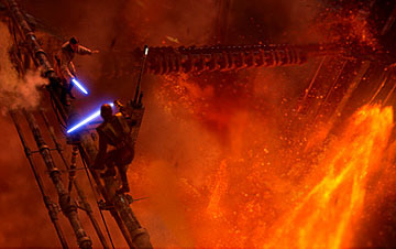 I liked the part when Obi-wan and Anakin/Darth Vader where fighting. It was quite sad seeing the best Marafiki fighting, but it was very dramatic.