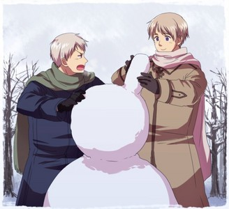 Hetalia!!! <3 Fave characters Prussia and Russia <3