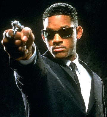 Men In Black i think..its Will Smith!