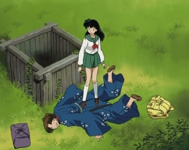 <b>Here's one of Kagome-chan سے طرف کی the well,while standing on Akitoki-kun :p</b>