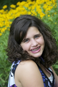 my bat mitzvah signing picture! i <3 this! i look so cute! god i'm self-centered.