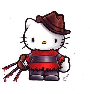 I have a lot of weirdness in me look at my 아이콘 its a 월 past 할로윈 and im still in the 할로윈 spirit and lookie here Its hello kitty aka hello Freddy kitty now!!!!!!