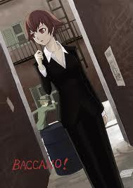 She is not my all time inayopendelewa anime girl but she is one of my favorites~ Ennis from Baccano! She is my fav. female character in this series with Miria behind~ She is beautiful, smart, and strong~