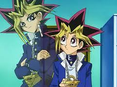 Yami, Yugi, Joey, and Bakura from Yugioh