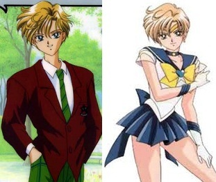 ^-^ Sailor Uranus! *English name - Amara *Japanese name - Haruka In the manga, she's a lot prettier as a girl and a lot better guy-looking as a dude! ;)