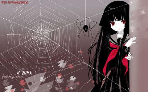 Well these are some of my favorites~ -Utena (Revolutionary Girl Utena) -Vash (Trigun) -C2 (Code Geass) -Rukia Kuchiki (Bleach) -Mr. Fujioka (Ouran Highschool Host Club) -Ai Enma (Hell Girl/Jigoku Shoujo) -Hei (Darker Than BLACK) -Crona (Soul Eater) -L Lawliet (Death Note) -Lucy/Nyu/Kaede (Elfen Lied) -Grell Sutcliffe (Kuroshitsuji/Black Butler) -Rima Toya (Vampire Knight) -Spike Speigel (Cowboy Bebop) -Rika Furude (When They Cry/Higurashi No Naku Koro Ni) Well, those are some of my favorites~ Here's a pic of Ai Enma from Jigoku Shoujo/Hell Girl for those who don't know~