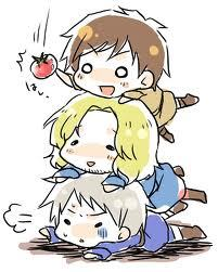 Mine is Hetalia or Bleach.Just a pic of Bad thouch Trio.