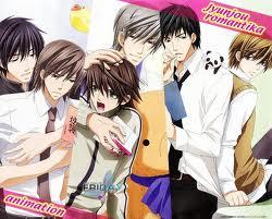 Hmmmmm...Well Ouran high school host club's main characters are all boys but there are a few girls..and Ouran High school host club's main character has only one girl Then Junjou Romantica!!!...Junjou Romantica's Main Character are all boys (see picture Below) And I Don't care if its yaoi Because I LOVE YAOI!!! then K-on....All of them are Girls..Well except Ritsu's Brother