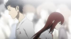 i cryed at Steins;Gate episode 22 when he had to let go of Chrisu D; i cant find a video but...in order to save Mikaru kyouma has to go back to the original world line. but in the original world line, his other friend Krisu dies. they both confess their love for each other and Krisu tells Kyouma to go ahead and go back to the original world line to save Mikaru. its so sad!!!!!!!!!!! D;