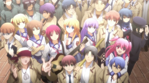 i was really sad in the end of angel beats when everyone disappeared it was hart breaking