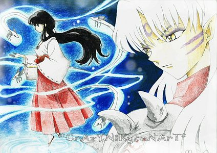 Today I'll choose Kikyo and Sesshoumaru... But I love everybody of the Inuyasha Cast!!!