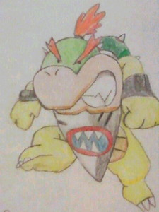 Bowser Jr.! I Cinta drawing him in my free time! I also Cinta Bowser and all his kids. I find them all so bad keldai XD