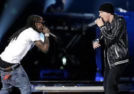 Eminem and lil wayne on stage