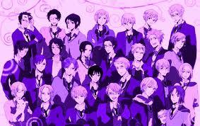 Hetalia!There are some girls but the main characters are guys.