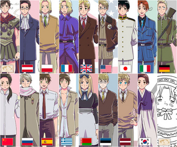 10 and one of em's Hetalia:)