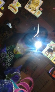Dirty mirror D: n yes I wanted the flash on...:] cuz the flash is purrttayy ;D
