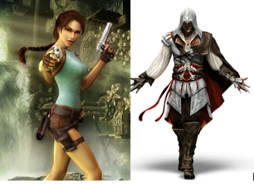 Tomb Raider and Assassin's Creed games. Asfdgfcvhgbhnjlakerfdgnvc obsessed. I'm actually playing Tomb Raider right now. x) And I'm constantly getting the Xbox controls for both those games mixed up so now I'm discombobulated. But yeah. TR and AC. Awesomeness.